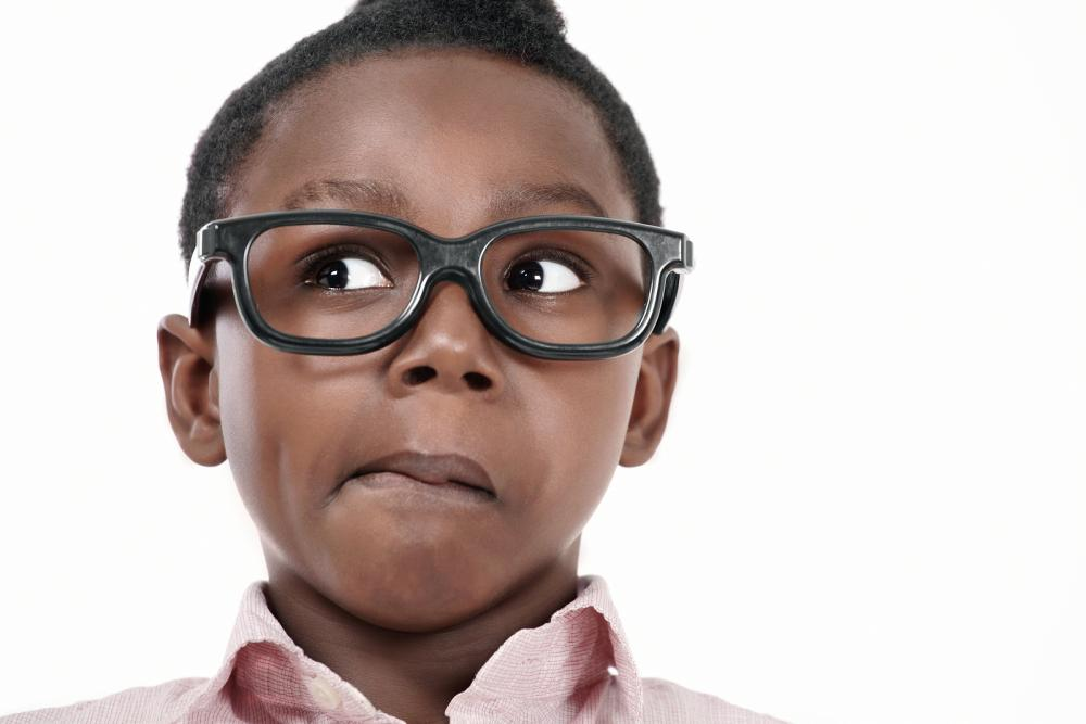 boy in glasses after seeing pediatric eye doctor in MOntpelier, Lancaster & St. JOhnsbury