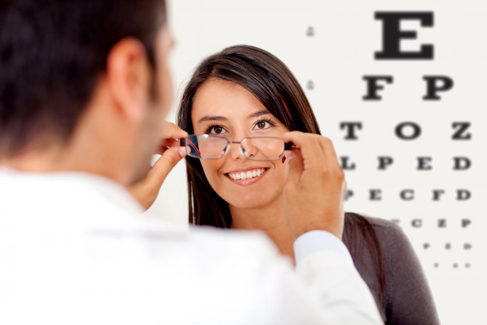 woman receiving eye care through Lancaster optometrist